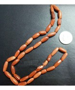Goldstone 12x4mm hand cut rice shaped beads great sparkle 14 inch strand SB033 - $2.95