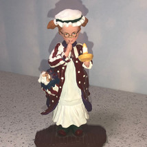 Department 56 Figurine Mary Jo Bath Robe Christmas Candle All Through House Hat - $24.75