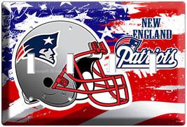 New England Patriots Football Team 4 Gang Light Switch Wall Plate Man Cave Decor - $17.99