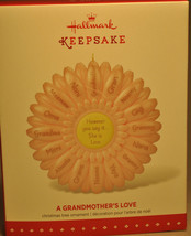 Hallmark: A Grandmother's Love - Flower With Names - 2015 Keepsake Ornament - $12.83