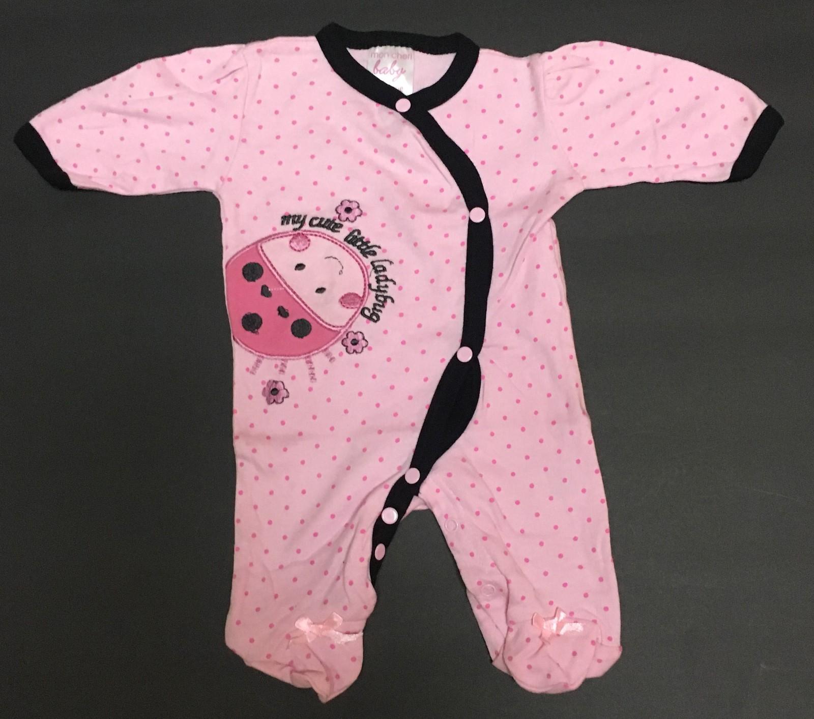 Mon Cheri Preemie One Piece My Cute Little Ladybug Pink Polka Dot