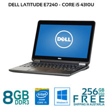 """DELL LATITUDE E7240 Core i5-4310U 4/8Gb 128/256 Gb SSD HDMI 12.5"""" Win10P... - $210.61+"""