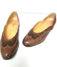RALPH LAUREN Spectator Ballet Flat Slip On Shoes Suede Leather Brown 7.5 AA - $32.95
