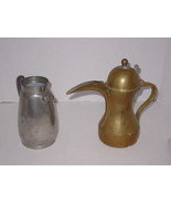 "Brass Pot Collectible 10"" tall and Royal gold Pewter pot 7 1/2""  MAKE AN... - $28.49"