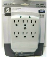 Belkin Wallmount Surge Protector-6 Outlet w/ Coaxial Protection  F9H630a... - $11.63