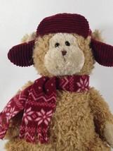 "Ty Honey Hudson Teddy Bear Classic Beanie Buddy Plush 14"" Fluffy Floppy ... - $17.99"