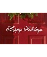 "Happy Holidays Xmas Seasonal Decor Vinyl Wall Quote Sticker Decal 2""h x ... - $8.99"