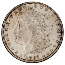 1897-O Silver Morgan Dollar in AU Condition, Nice Eye Appeal and Luster - $119.04