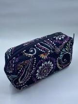 Vera Bradley Bandana Swirl Brush/Pencil Cosmetic Travel Bag Case zippered - $9.50