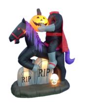 Halloween Inflatable Headless Horseman Airblown Yard Decor Light Show An... - ₨10,295.72 INR