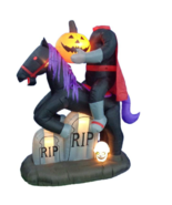 Halloween Inflatable Headless Horseman Airblown Yard Decor Light Show An... - £105.98 GBP