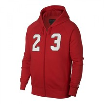 Nike Men's Jordan Flight Fleece Full Zip Hoodie  NEW AUTHENTIC Red AJ639... - $49.49