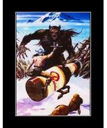 Vintage Rainier Beer Poster, Bar Wall Art BigFoot Sasquatch Yeti Monster... - $19.99+