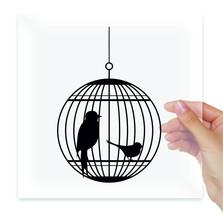 BIRD CAGE BIRD IN A CAGE Wall Room Art Vinyl Stickers Decal Decor retro ... - $2.99+
