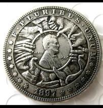 Rare Hobo Nickel 1897 Morgan Lincoln With Hand Grabbing Center Penny Cas... - $11.39
