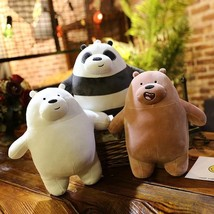 30cm 40cm 50cm new standing We Bare Bears squishy naked three bears Grizzly/pand - $32.50