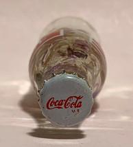 Japan Coke Coca-Cola Mini Miniature dried Purple Flowers crystal glass bottle image 7