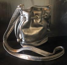 Women's Girl's Silver Metallic Handbag Cross Body Drawstring Purse - $24.00