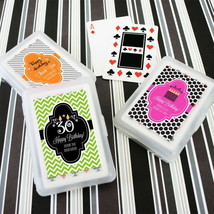 150 Personalized Themed Playing CARDS Birthday Bar Mitsvah or Party Favor - $152.48