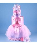 TUTU TASTY NEWBORN DIAPER CAKE BABY GIRL GIFT - $130.00