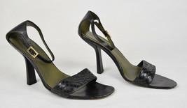 Gucci Womens Leather Black Sandal Strap Minibermuda 8.5 B - $49.50