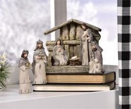7 pc Nativity Set Natural Colors Polystone NEW