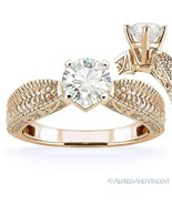 Forever ONE D-E-F Round Cut Moissanite 14k Rose Gold Solitaire Engagemen... - €695,75 EUR+