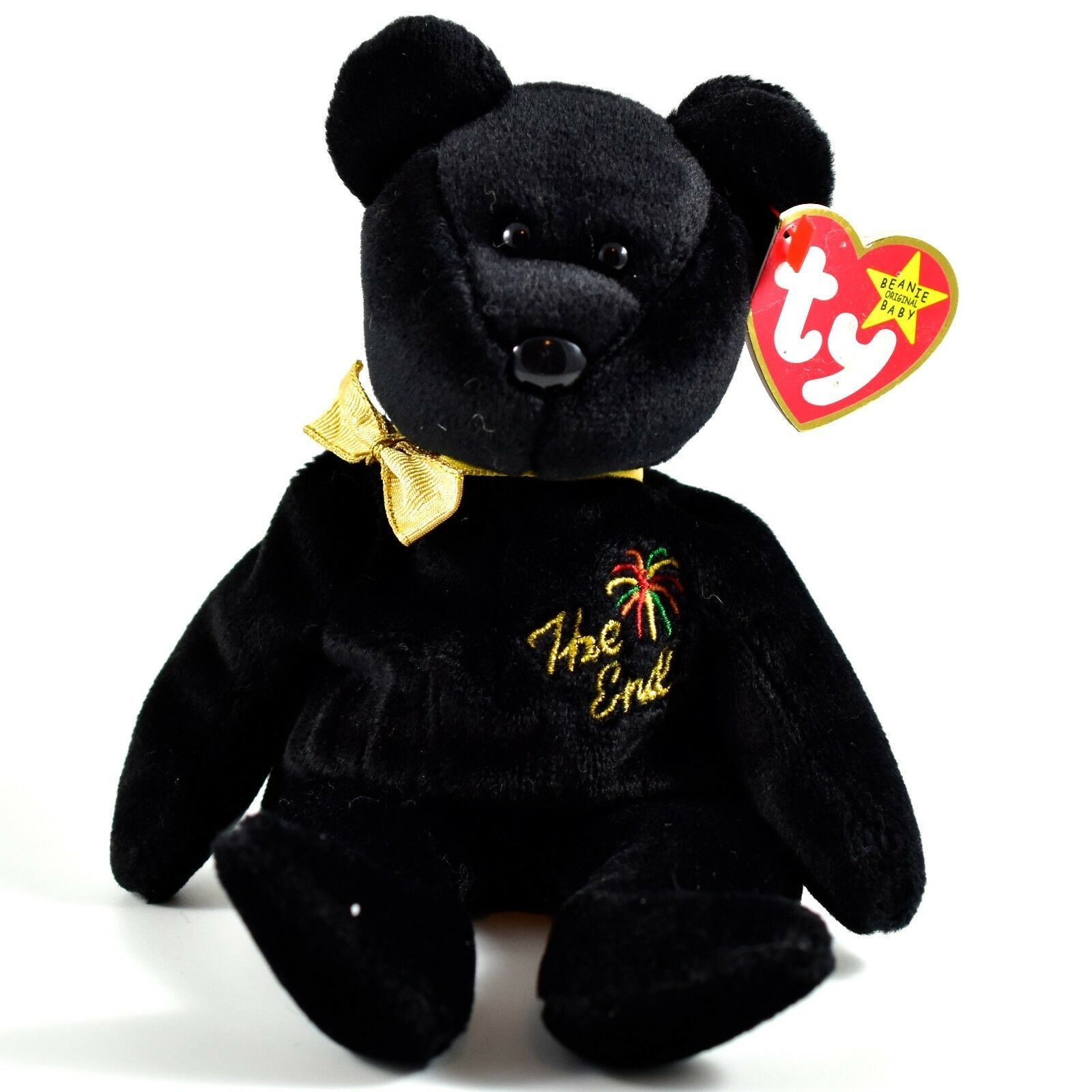 1999 TY Beanie Baby Original The End New Years Teddy Bear Beanbag Plush Toy Doll