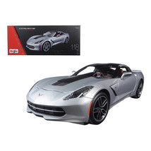2014 Chevrolet Corvette Stingray C7 Z51 Silver Exclusive Edition 1/18 Di... - $102.23