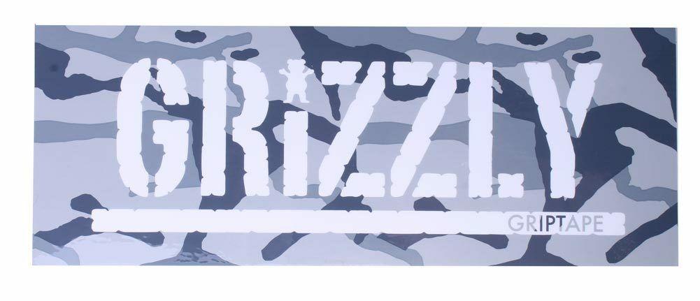 "Grizzly Griptape Gray Branch Camo 8"" Sticker Skateboard Decal NEW"