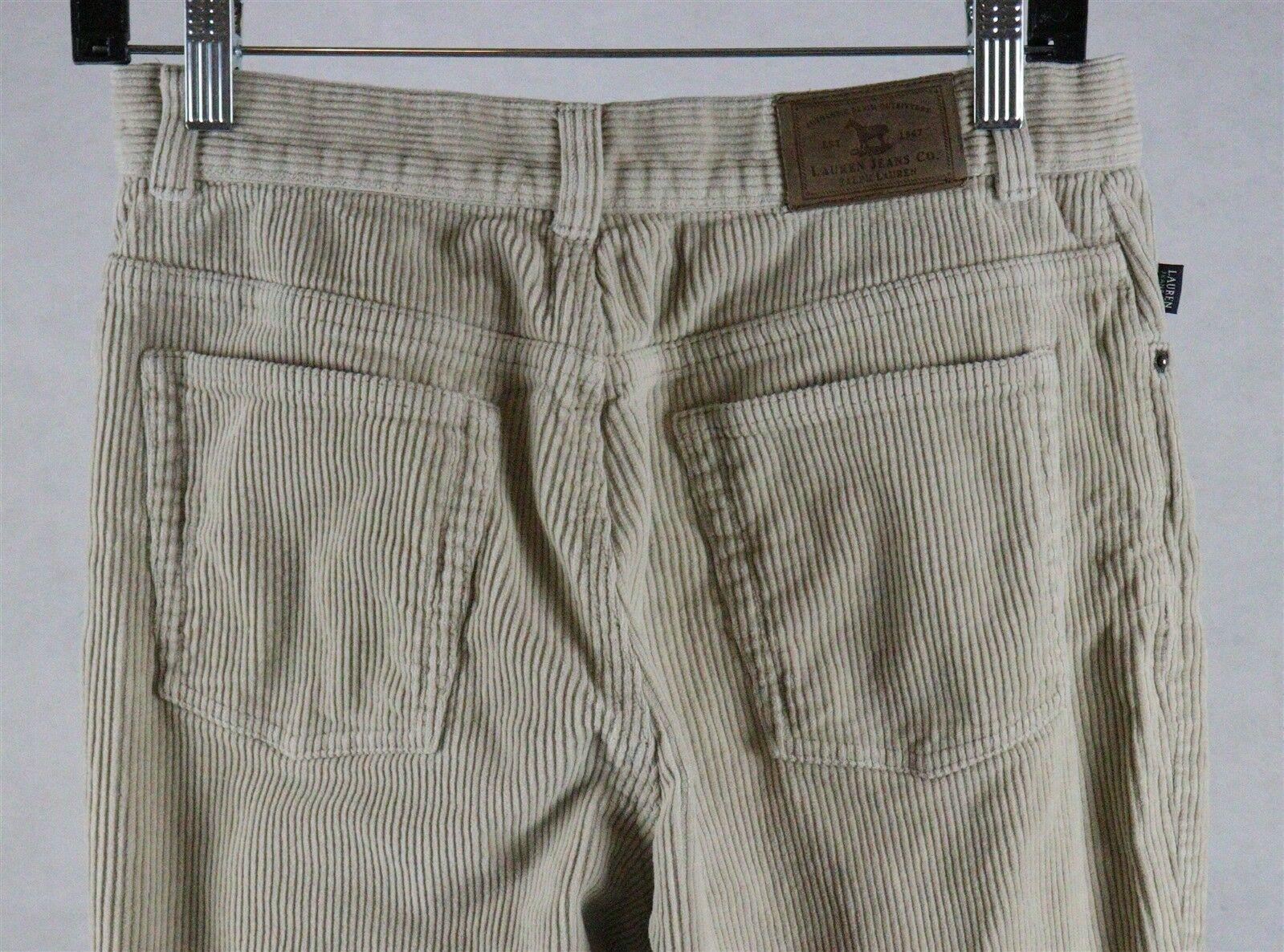 Ralph Lauren Jeans Company Womens Beige Corduroy Pants Size 6, Measures 28 x 30