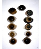 Third Eye's Two Color Eye's Agate Stone Reiki Healing Pieces 11 pieces - $25.00
