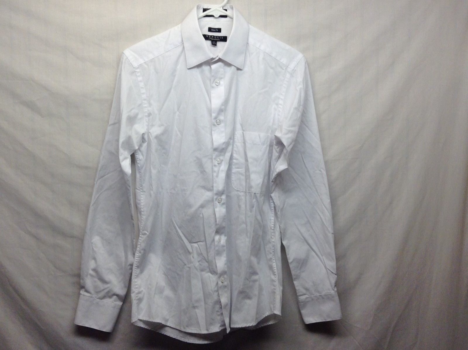 Marquis Signature Formal Wear Slim Fit Shirt Sz 14.5 32/33