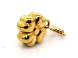 Women's Polished / Brushed 14k Gold Flower Pendant Charm Toggle #20320 - $58.20