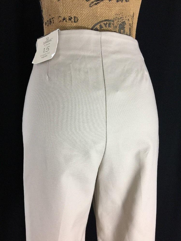 NEW Chico's So Slimming Dress Pant Putty Katharine 31.5 Basic Control Work 10 Lg