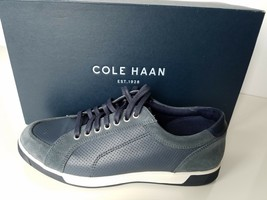 NEW WITH BOX SIZE 7 Cole Haan Men's Vartan Sport Oxford Canvas Sneaker Blue - $59.39