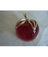 Vintage Lucite Cherry ~ Apple Pin ~ Brooch ~ Sarah Coventry  - $13.00