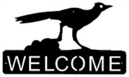 Roadrunner Welcome Sign - Rustic Metal Lodge Cabin Bird Welcome Sign - $74.00