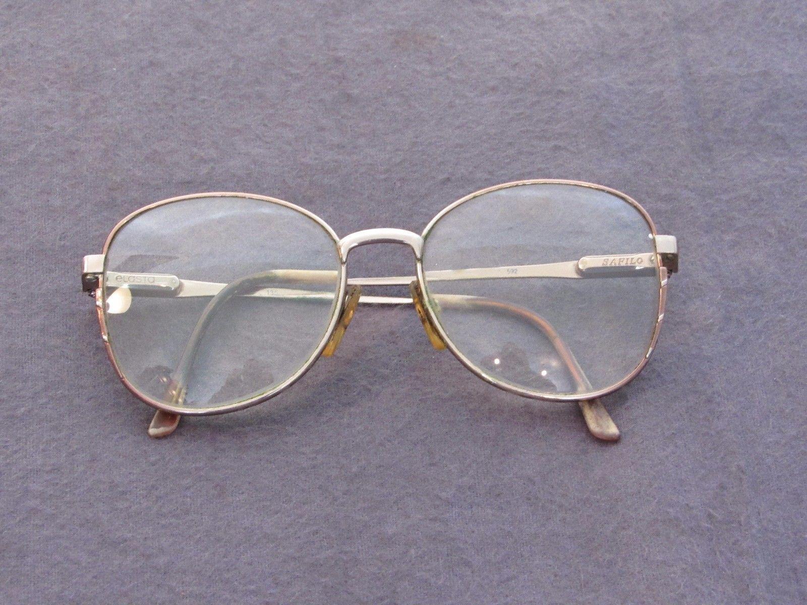 Prop Elosto Safilo Vtg Full Rim Metal Eyewear Retro Eyeglasses Glasses Frames