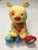 Child Of Mine Yellow Plush Vibrating Pull Collar Puppy Dog Rattle Crinkl... - $26.99