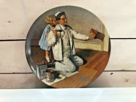 "Vintage Collector Plate Norman Rockwell ""The Painter"" By Edwin M Knowles... - $21.10"