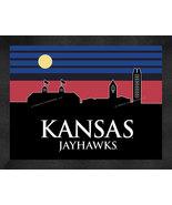 University of Kansas Jayhawks 13 x 16 Uscape with Retro Skyline Framed P... - $39.95