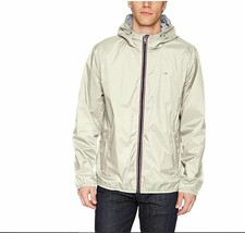 Tommy Hilfiger Men's Active Rain Slicker Jacket with Tricolor Zipper Small  Ice - $45.04