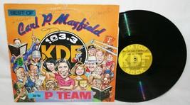 CARL P MAYFIELD & THE P TEAM Nashville KDF Radio AUTOGRAPHED Signed LP R... - $49.49
