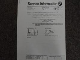 1980s 1990s 2000s BMW Service Information Bulletins Manuell Allgemeine - $13.80