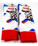 Dr. Mario Crew Socks Licensed Nintendo Retro Video Game White Socks 2 Pa... - $15.83