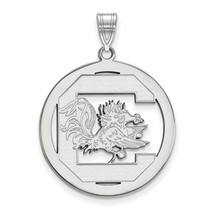 Sterling Silver LogoArt University of South Carolina L Pendant in Circle - $82.00