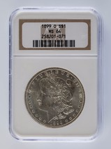 1899-O Silver Morgan Dollar $1 NGC Graded MS 64 - $89.09
