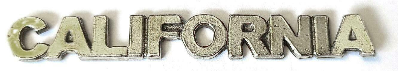 California Word Fine Pewter Flat Back Plaque Tag Diy  ~ 2 1/4 Inches Long  (T197