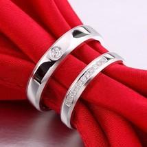 14K White Gold Finish Couples Diamond Wedding Engagement Ring Bands - $140.24